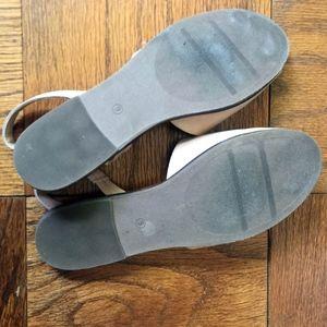 LOFT Shoes - LOFT Nude/Tan Sling Back Sandals, size 9
